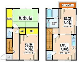 [テラスハウス] 東京都調布市菊野台2丁目 の賃貸【東京都 / 調布市】の間取り