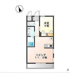 プランドール横濱[2階号室]の間取り