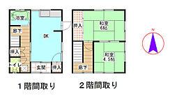 万代アパート[1階]の間取り