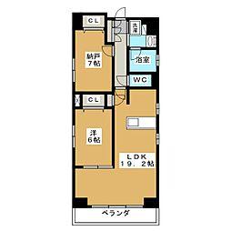 仮称 中京区下八文字町マンション[6階]の間取り