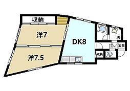 澤田マンション[3階]の間取り