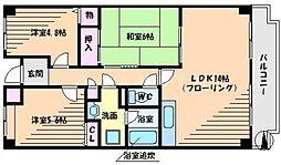 アバンティ千里[6階]の間取り