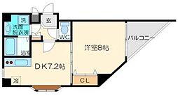 グランドソレーユ 3階1DKの間取り