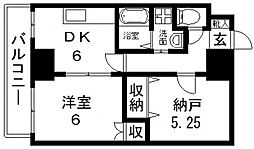 HERITAGR(ヘリテージ)高井田[406号室号室]の間取り