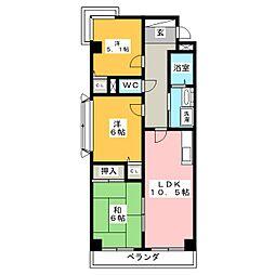 シティコーポ第II明円[2階]の間取り