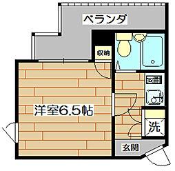 アップルハイツ富田[4階]の間取り