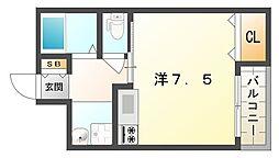 レユシール門真[3階]の間取り