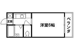 鳴滝グリーンハイツ[2階]の間取り