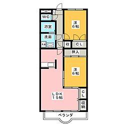 サニーヒル[4階]の間取り