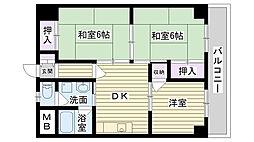 フローラルコート鶴見[305号室]の間取り
