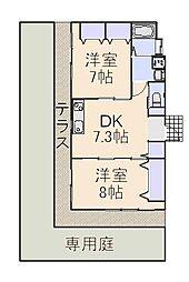 サンライン田無コーポ[1階]の間取り