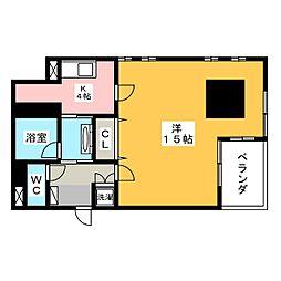 ビュー雷神III[7階]の間取り