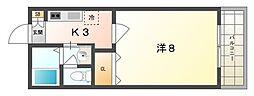 カーサ栄町[1階]の間取り