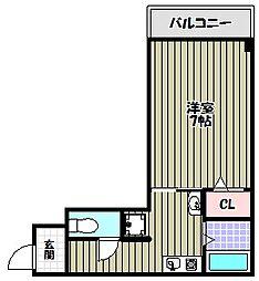 メープルコート[3階]の間取り