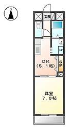 レーベンズプラッツ[9階]の間取り
