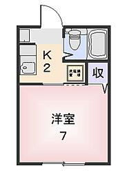 三重県松阪市朝日町一区の賃貸マンションの間取り