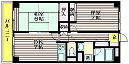 東京都調布市西つつじケ丘3の賃貸マンションの間取り