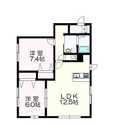 北海道札幌市白石区本通16丁目の賃貸アパートの間取り