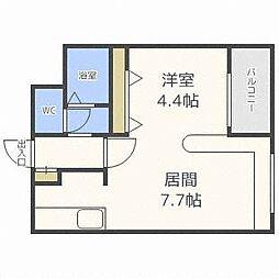 ハウスオブリザ澄川壱番館[3階]の間取り