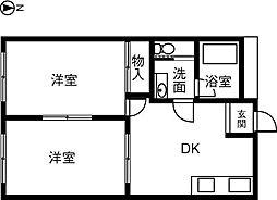 KIRAKUハイツ宮路[206号室]の間取り