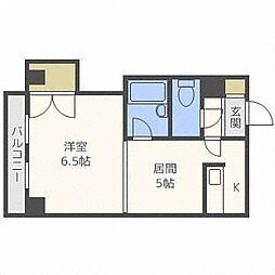 北海道札幌市東区北十九条東2丁目の賃貸マンションの間取り