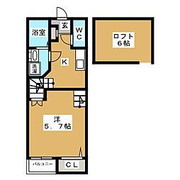 クレオ箱崎参番館[2階]の間取り