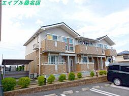 三重県桑名市赤尾台4の賃貸アパートの外観