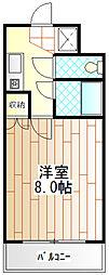 神奈川県相模原市南区相模大野9丁目の賃貸マンションの間取り