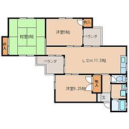 静岡県静岡市清水区七ツ新屋の賃貸アパートの間取り