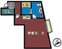 アルトアベニュー[2階]の間取り