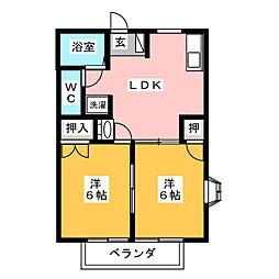 レジデンスM[2階]の間取り