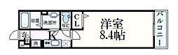 阪急神戸本線 六甲駅 徒歩5分の賃貸アパート 2階1Kの間取り