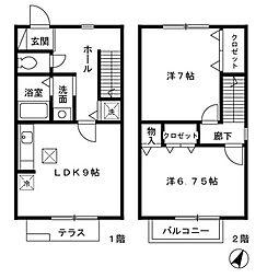 [テラスハウス] 東京都町田市中町4丁目 の賃貸【/】の間取り