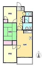 リナス竹ノ塚[3階]の間取り