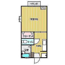 茨城県つくば市春日3丁目の賃貸アパートの間取り