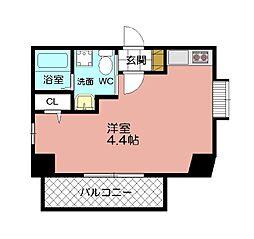 ベネフィス赤坂(1203)[1202号室]の間取り