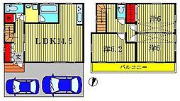 [一戸建] 東京都葛飾区水元3丁目 の賃貸【/】の間取り