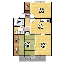 サニーハウス 1階3DKの間取り