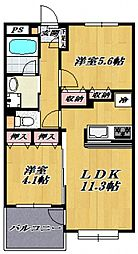 宮崎台リージェンシー[201号室号室]の間取り