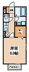 ボナールハイム[1階]の間取り