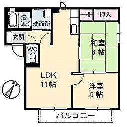 セトゥール・イン・ウエスト A棟[2階]の間取り