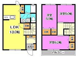 [テラスハウス] 東京都東久留米市南町4丁目 の賃貸【/】の間取り