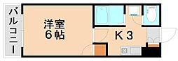 グランドール春日原[2階]の間取り