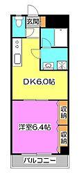 東京都清瀬市松山2丁目の賃貸マンションの間取り