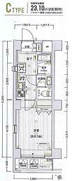 横浜市営地下鉄ブルーライン 阪東橋駅 徒歩5分の賃貸マンション 5階1Kの間取り