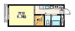 flat本町C棟[205号室]の間取り