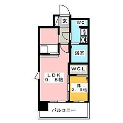 グランフォーレ博多駅東プレミア[2階]の間取り