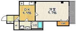 シャトル京都駅[405号室]の間取り