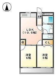 ライフオン生駒 東棟[1階]の間取り