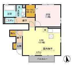 エパティークデュオ[2階]の間取り